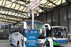 申沃纯电动城市客车亮相2015上海国际客车展