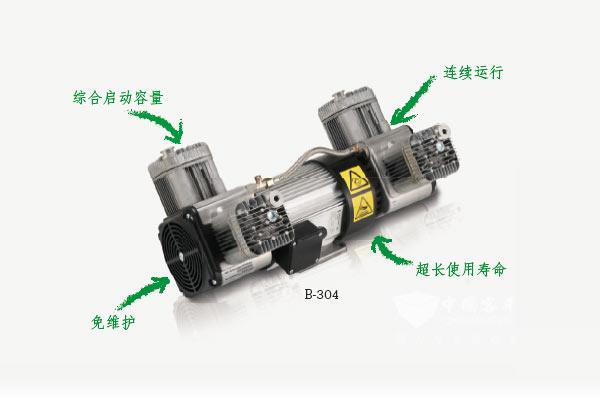 电动客车制动用无油活塞空气压缩机