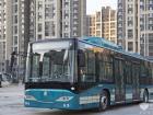重汽12米全承载BRT混合动力公交车