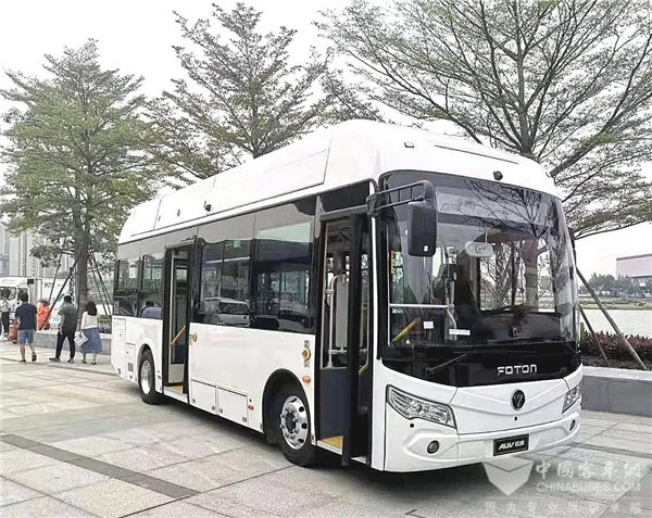 """彰显""""氢""""魂气魄!看福田欧辉氢燃料电池客车的佛山风采"""