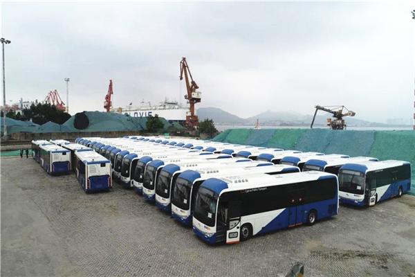 200辆金龙客车出口塞浦路斯