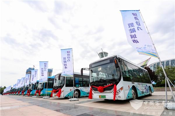 """开拓绿色动力制造""""新蓝海"""" 潍柴150辆氢燃料电池公交交付潍坊"""
