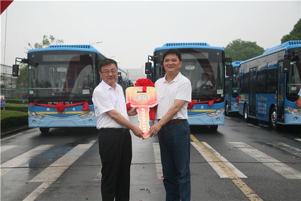安凯G9纯电动客车批量驶入滁州
