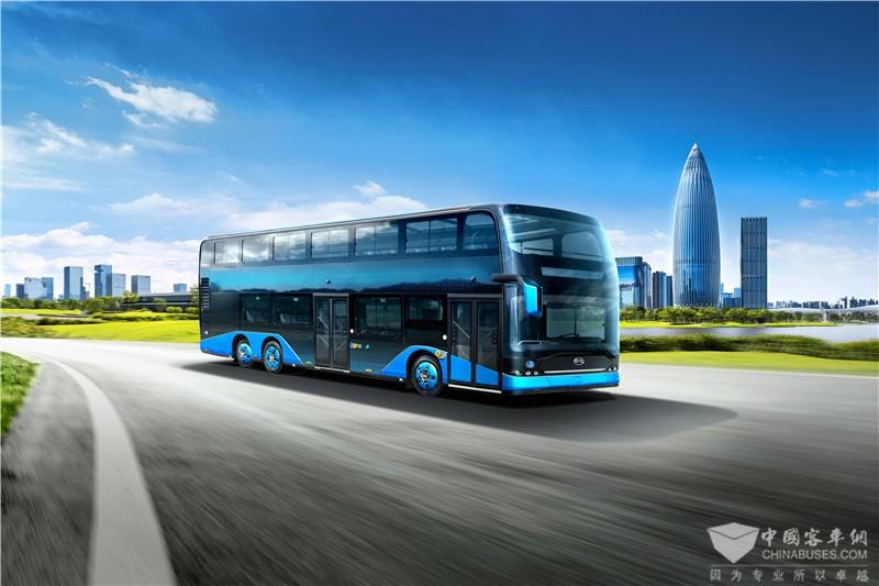 比亚迪全新B12D双层公交车