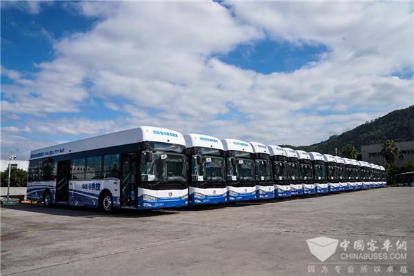 再拓氢能战略版图 金旅燃料电池公交批量交付山西大同与浙江嘉善客户