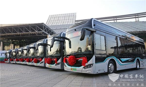 长三角氢能产业加速度! 16辆苏州金龙氢能巴士再次交付常运公交
