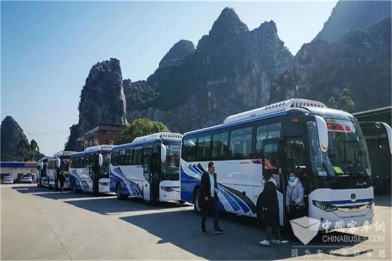 批量中通世腾电动客车助推广西绿色旅游生态