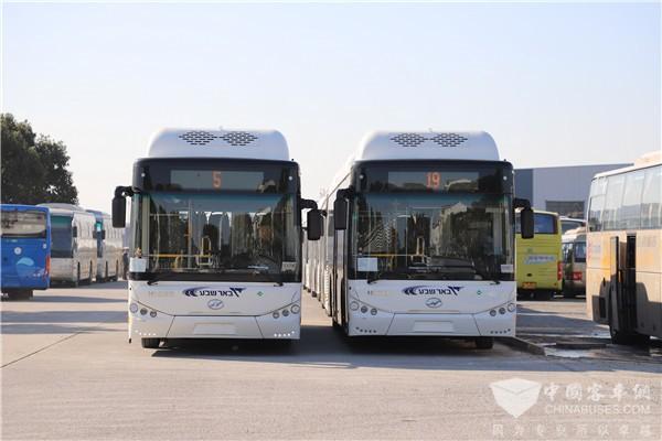 """""""一带一路""""再发力! 苏州金龙31辆天然气公交车远航以色列"""