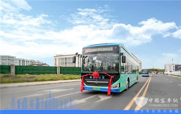 """无锡首条""""氢""""公交线开通 潍柴动力系统百公里氢耗低至3.6kg"""