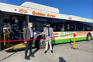 """驶进""""彩虹之国"""" 比亚迪打造南部非洲首批正式运营的纯电动大巴"""