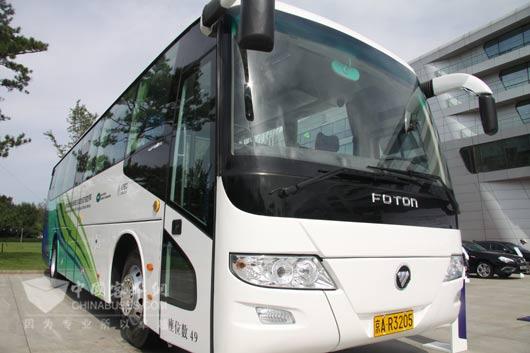 2014年8月5日交车仪式上的欧辉客车
