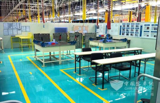 南车时代电动精益生产现场培训室