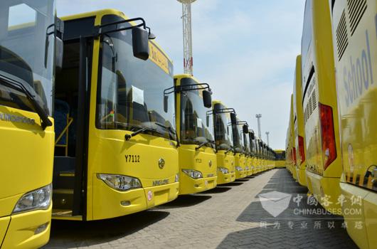 1060辆金龙客车交付沙特