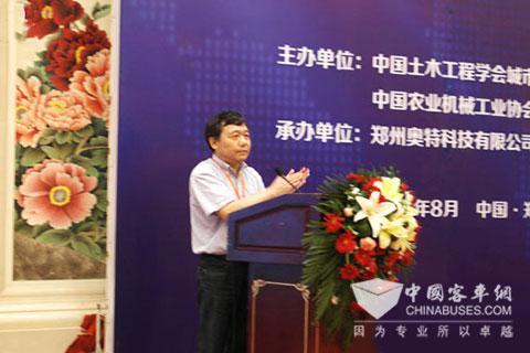中国土木工程协会城市公共交通学会秘书长袁建光